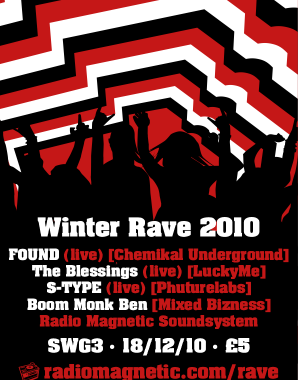 Radio Magnetic Winter Rave warmup with Boom Monk Ben