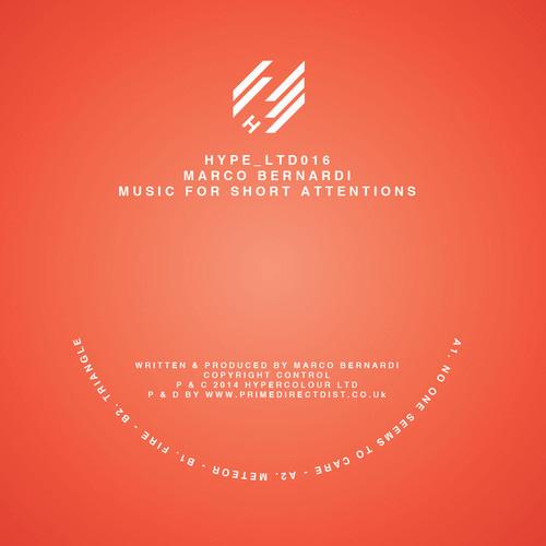 Marco Bernardi - Music For Short Attentions EP - artwork
