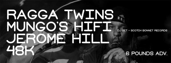 Ragga Twins, 48K and Mungo's Hi Fi at the Art School - artwork