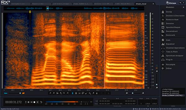 Izotope RX3 audio repair plugin